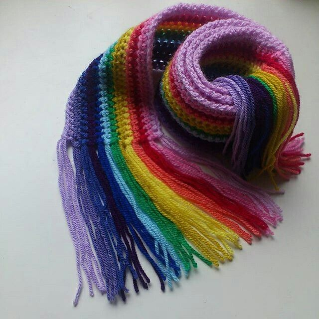Self selected colours for a scarf for my little lady