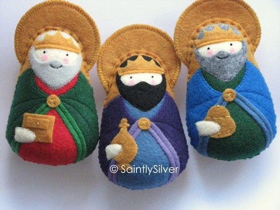 Three Magi of the Nativity Felt Saint Softie Set