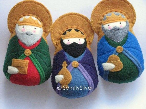 Three Magi of the Nativity Felt Saint Softie Set