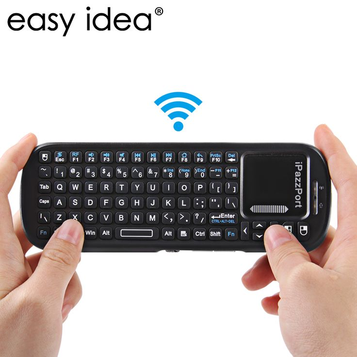 EASYIDEA Wireless Keyboard Touchpad Air Mouse 2.4G RF QWERTY Keyboard Mini USB Gaming Keyboard For Android Smart TV BOX