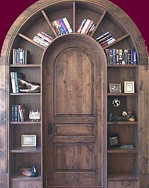 Bookcase door. So cool! Would be neat for entering into a home library, or bedroom, pull one of my fav books & cozy into bed.