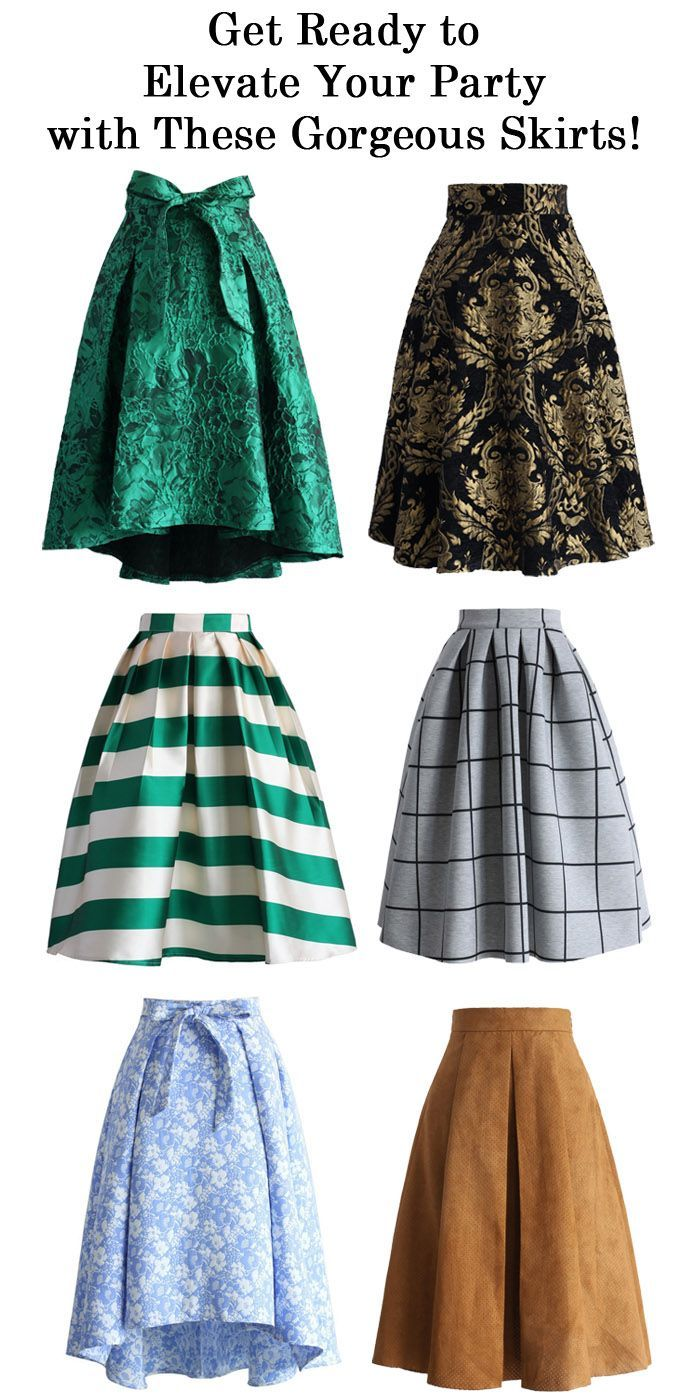 Get ready to elevate your holiday party with these gorgeous midi skirts!: