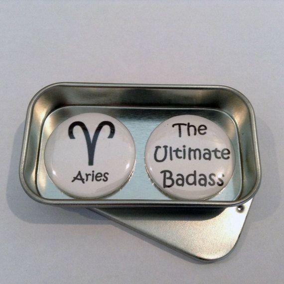 Fun Zodiac Horoscope Badass Magnet Gift Set with Gift Tin