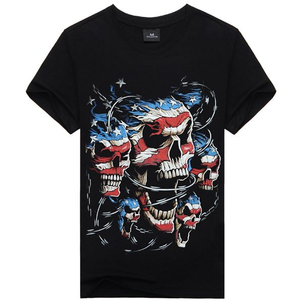summer outfits men New 2015 3D Printed T Shirt Men XXXL Size Plus Size Cotton One-Neck Skull Causul Men's Wear Men Clothing Black Color Famous * AliExpress Affiliate's Pin.  Detailed information can be found on AliExpress website by clicking on the VISIT button