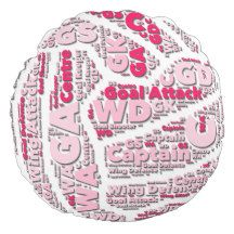 Netball Positions Ball Design Round Pillow http://www.goodnetballdrills.com/easy-netball-training-drills-exercises/