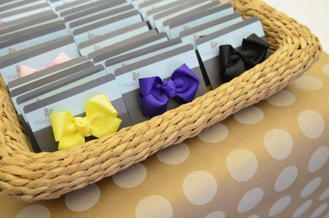 the Paisley Ribbon, craft show display, hair bow, basket, table top display