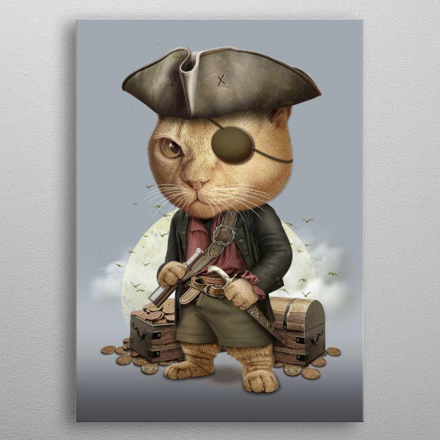 cat kitten pirate funny Cute