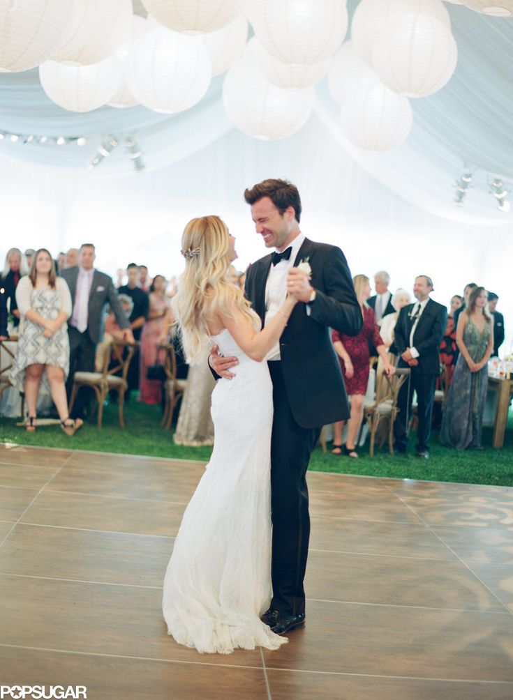 """The Paper Crown designer, who walked down the aisle to The Beatles' """"In My Life,"""" had her first dance with William Tell to Once's version of """"You're My Best Friend."""" 