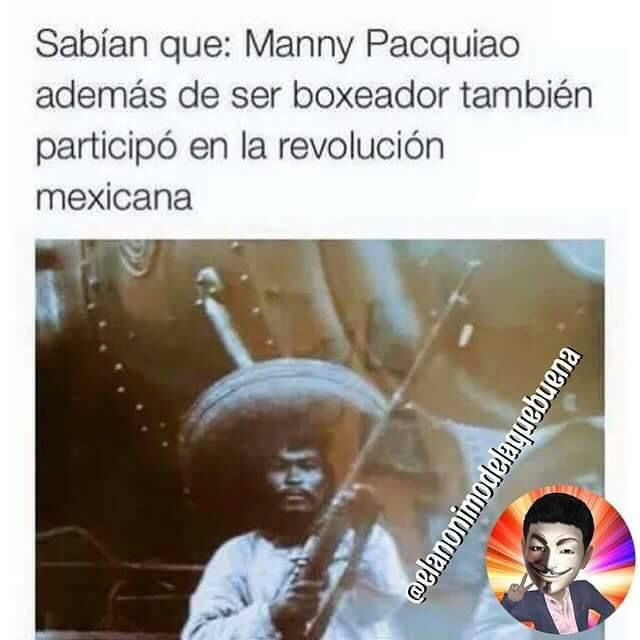 Manny Pacquiao at the Mexican Revolution hahaha