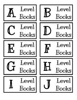 Classroom Library Labels, Fountas and Pinnell Labels, Classroom Material Labels