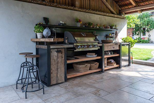 Outdoor Küche Holzofen