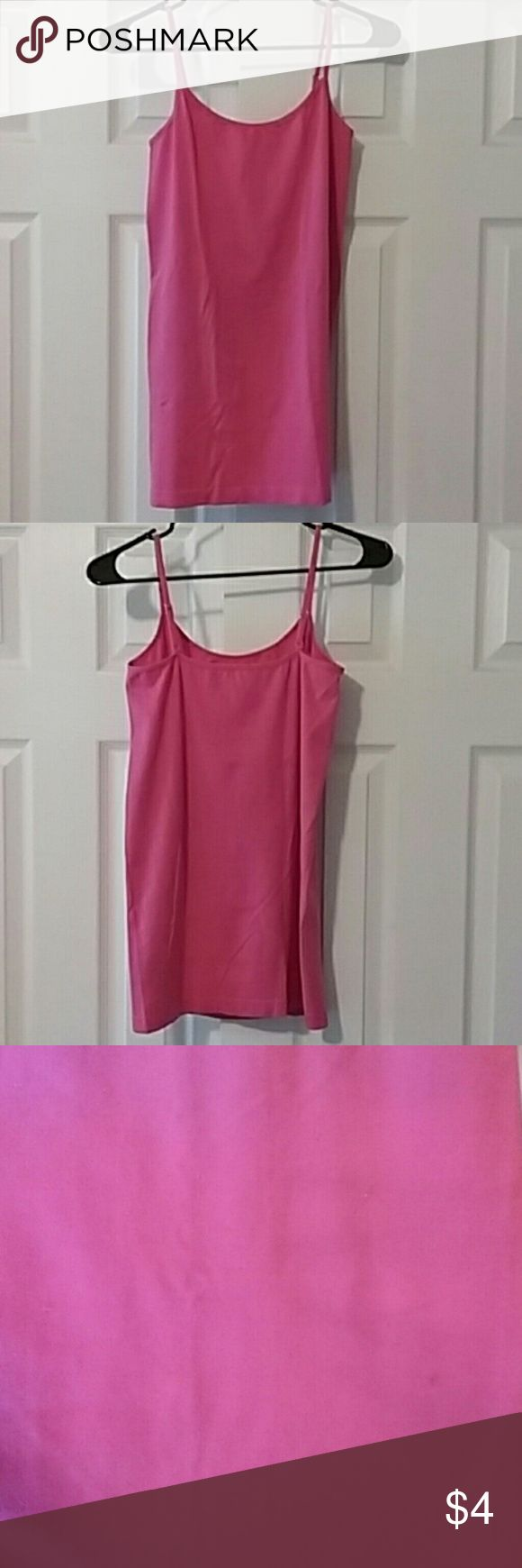 Price to sell!!! Pink Maternity Cami This maternity cami is great for layering! Has a little stain from my maternity dark wash jeans. Took picture to show stain. Other than that it's in great condition! Tops Camisoles