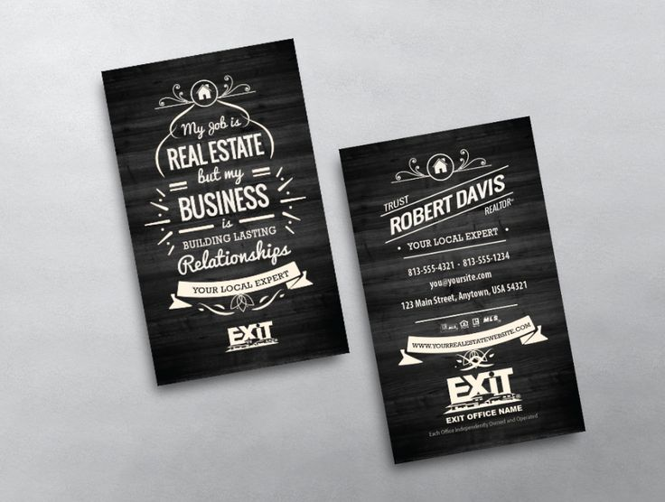 A cool and unique design, this vintage style Exit Realty business card is an awesome option for any agent looking for something different.