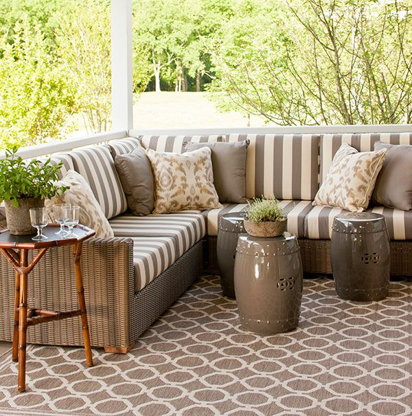 Southern Living Idea House 2013 | Phoeboe Howard | Ballard Designs | Sectional, outdoor seating
