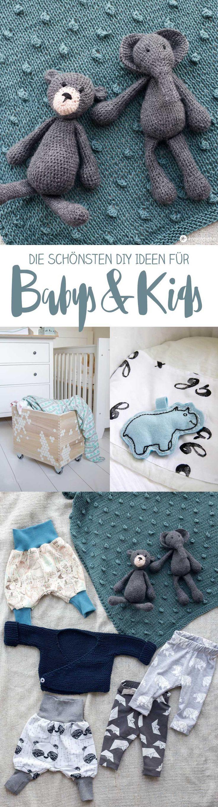 Die schönsten DIY Ideen für Babys und Kids - DIY Geschenke für Babys #diy #diybaby #geschenkezurgeburt #kinderzimmer