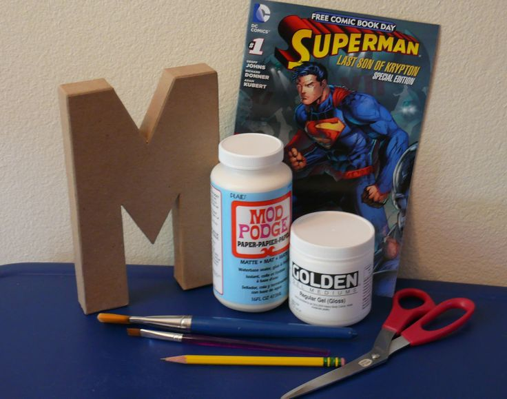 DIY Comic Book Letter. I will be doing this for tanner!!!