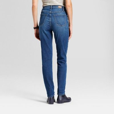Women's High Rise Vintage Button Fly Jeans - Crafted by Lee Medium Wash 6 Short