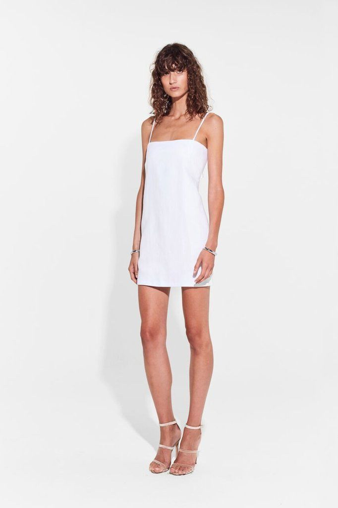 SIR the label - Gracie Double Tie Back Mini Dress White