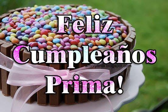 Feliz Aniversario Tia Espanol: Feliz Cumpleaños Prima