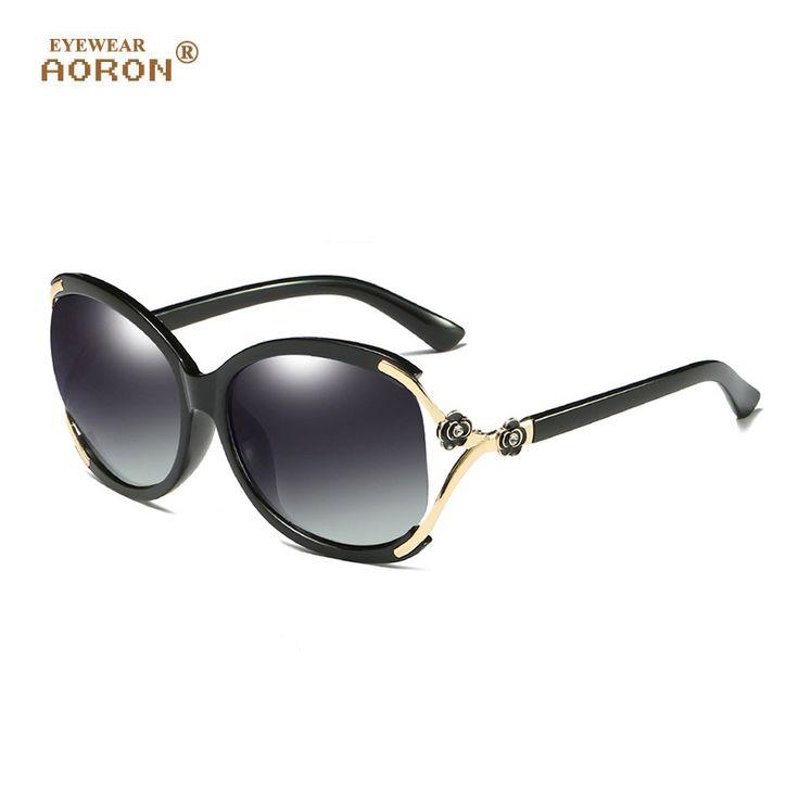AORON Polarized sunglasses Women Flowers Frame Designer polaroid Sun glasses women Luxury Eyewears lentes de sol mujer A858 #Affiliate