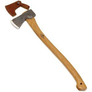 "Gransfors Scandinavian Forest Axe #430 by Gransfors Bruks. $130.00. 3-1/2"" face. Includes 20 Year Product Warranty. Comes with a grain-leather sheath. 2 lb head. 25"" handle. Professional Forest Axe. Forged to a thin, curved bit and sharpened to make it suitable for cutting branches in fresh, resinous wood. The long handle gives extra strength and power to the cut. 3-1/2"" face 25"" handle 2 lb head. Premium quality axes, hand-forged at Gränsfors Bruks, a family owned forge in a s..."
