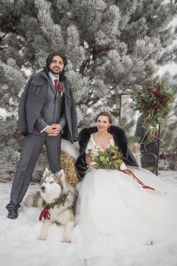 Romantic fairy tale winter wedding.