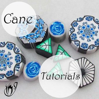 In the polymer clay canes tutorials on this page, I'll be showing you how to combine some of the basic canes to create more complex projects.