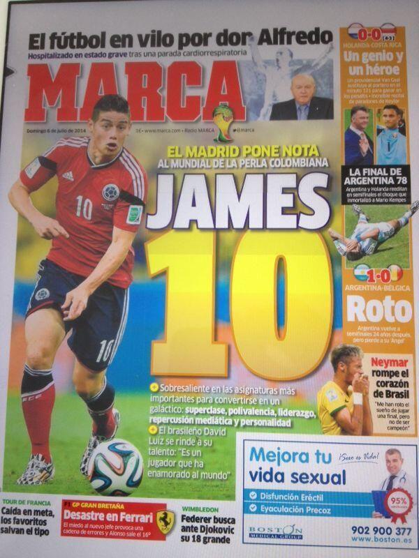 3OO mil ejemplares de Marca se vendieron en #Madrid hoy. Que orgullo. #Brasil2014 #MundialBrasil2014 #Colombia