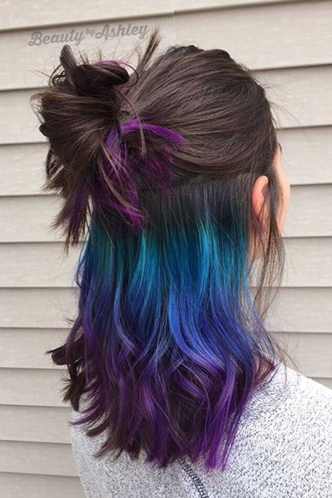 Today rainbow hair is available for brunettes, as well, and there is no need to bleach it harshly, let us celebrate the moment! Click to see the most intriguing rainbow hair looks for brunettes.