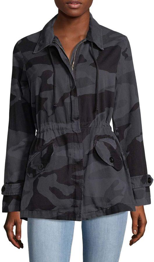 Monrow Women's Camo Shirt Jacket