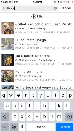 Recipes and shopping list by Feast Kitchen Screenshots
