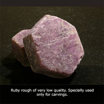 Identifying Raw And Rough Gemstones | Natural Ruby Gemstone | July Birthstone Gem | Price and Buying of ...