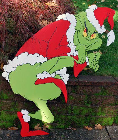 Grinch Yard Art Christmas Yard Art Christmas Yard Yard Art