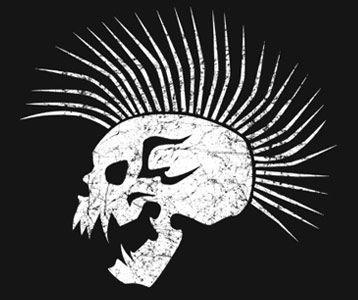The Girl with the Dragon Tattoo t-shirt Mohawk Skull Lisbeth Salander shirt    Verrry Cool tattoo idea!!!!!