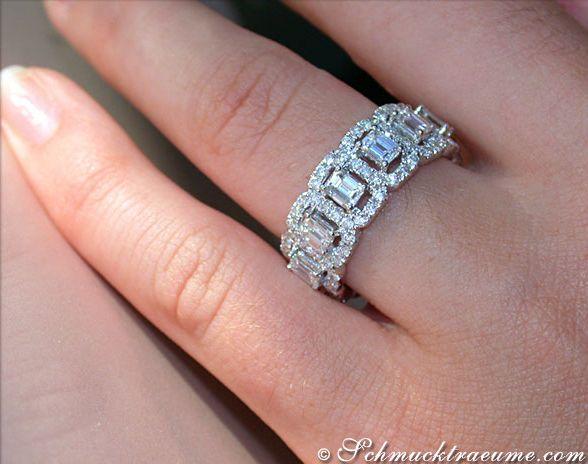 Prächtiger Brillanten / Diamanten Memory Ring » Schmuckträume