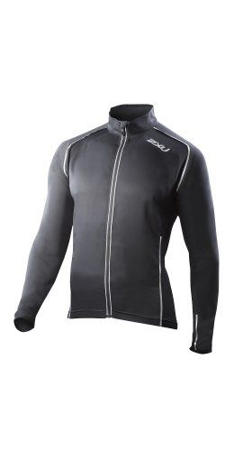 2XU Men's Vapor Mesh 360 Run Jacket, Black, Large. This Tran seasonal Run Jacket offers flexibility for comfort during activity plus EXTREME MESH panels on the back, resulting in a micro climate to meet the highest demands placed upon it. Boasting 360 Degree Reflectivity for unparalleled safety, this impressive piece features 2XU 's outstanding 3D THERMAL on side panels. Tran seasonal Run Jacket offering maximum comfort on the run and any high endurance activity.