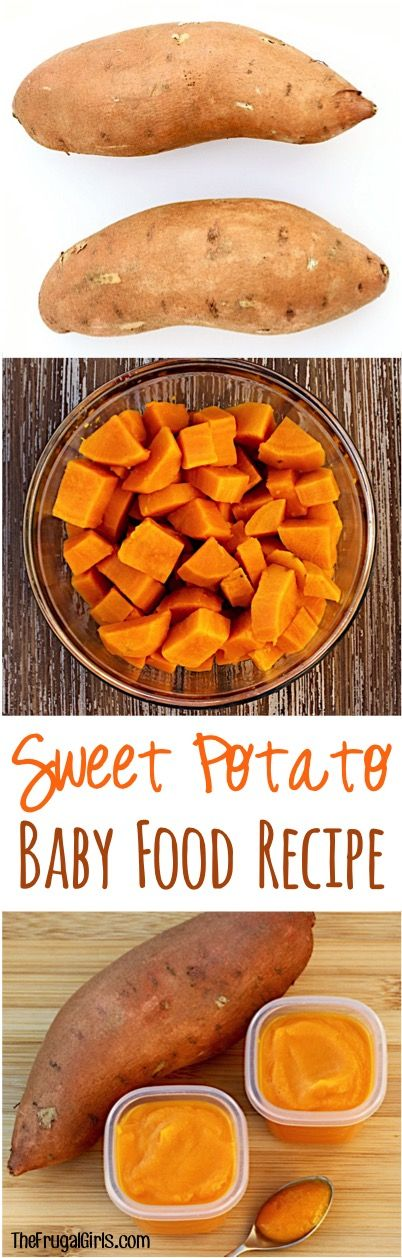 Homemade Sweet Potato Baby Food Recipe! ~ at TheFrugalGirls.com ~ making your ow…