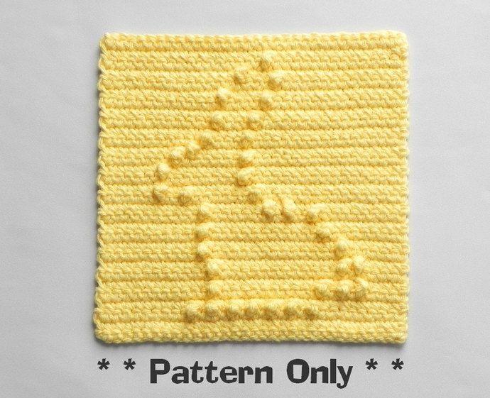 Mejores 7 imágenes de Crochet Dishcloth Patterns en Pinterest ...
