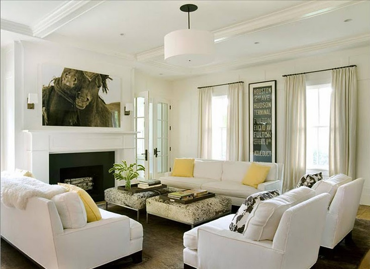 Wonderful Living Room...love The 2 Sofa, 2 Chair Layout