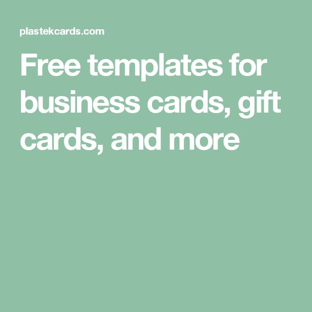 Free templates for business cards, gift cards, and more