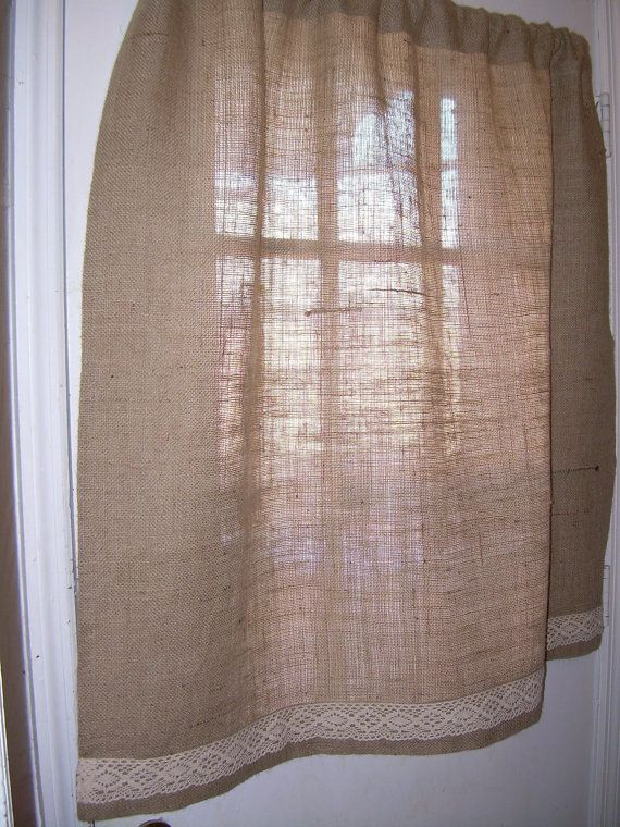 Burlap Door Curtain - for french doors | For the Home ...