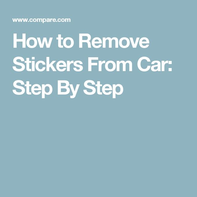 How to Remove Stickers From Car: Step By Step