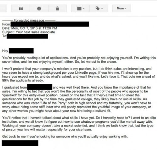 Cover Letter For Resume, Writing