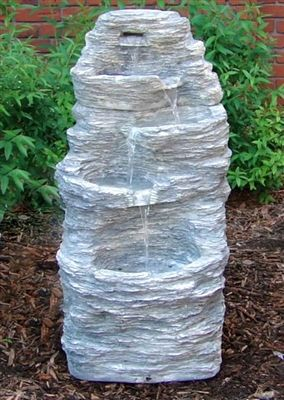 Outdoor Classics Four Tier Rock Falls Outdoor Water Fountain. Fiberglass Is  Extremely Durable And Lightweight