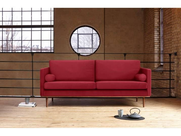 Kragelund 3er Sofa Vigo Rot Komfortabler Federkern Home Decor Sofa Furniture