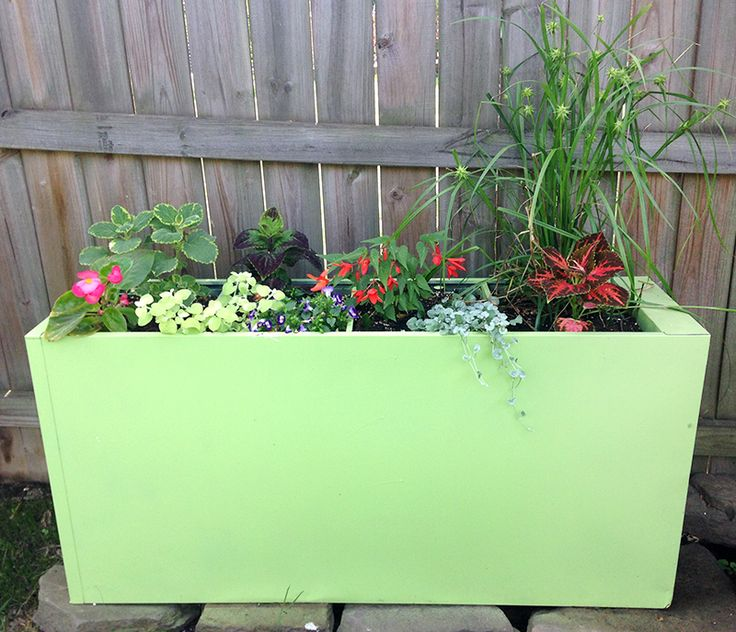 Find Out How To Turn A Filing Cabinet Into A Planter