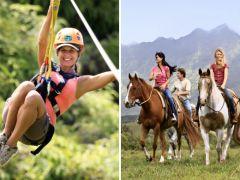 Princeville Ranch Zipline & Horseback Riding Combo, Kauai tours & activities, fun things to do in Kauai   HawaiiActivities.com