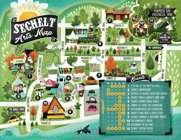Fun New Illustrated Map — Jana Curll Illustration