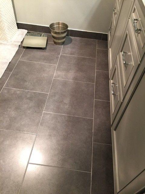 Dark Cloudy Hue Bathroom Floor Tile Dream Marengo 18 X