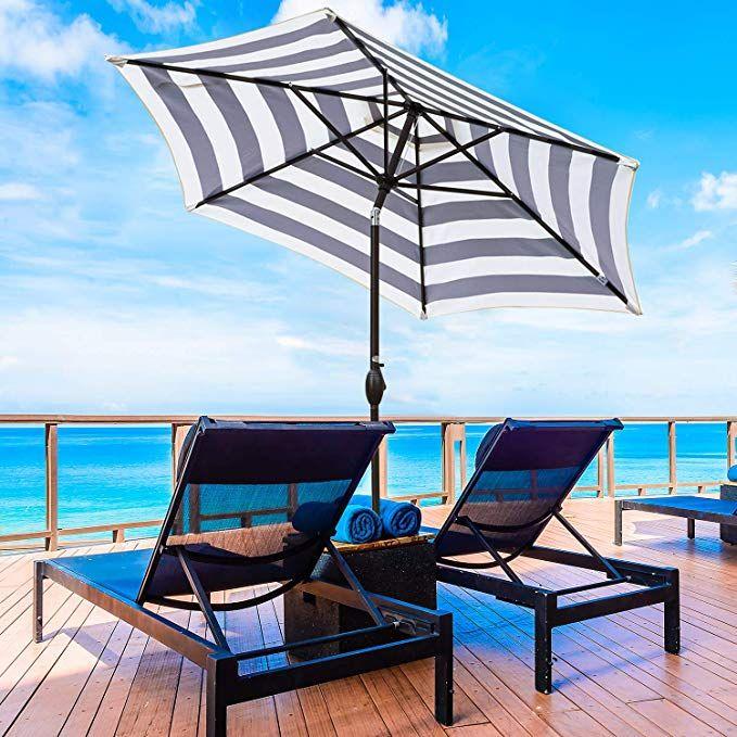 Amazon Com Abba Patio Striped Patio Umbrella 9 Feet Outdoor